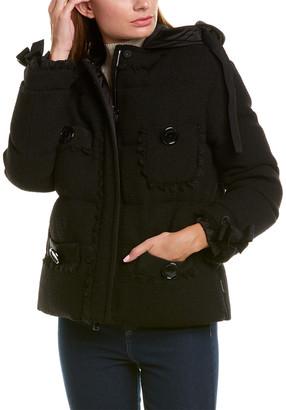 Moncler Wool-Blend Colin Down Coat