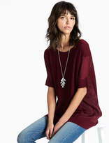 Lucky Brand Pullover With Woven Fabric