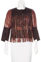 Rozae Nichols Leather Fringe Jacket