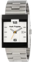 Hush Puppies Men's HP.3664M.1501 Freestyle Rectangular Stainless Steel Dial Luminous Date Watch