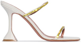 Amina Muaddi Gilda 110mm crystal-embellished sandals