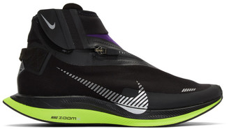 Nike Black and Purple Zoom Pegasus Turbo Shield WP Sneakers