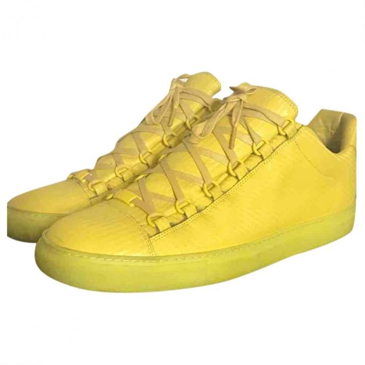 Balenciaga Arena Yellow Leather