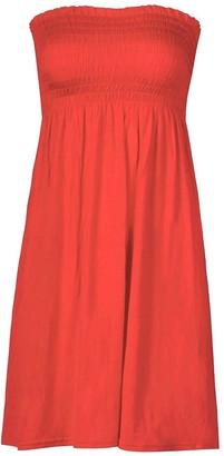 Momo&Ayat Fashions Ladies Plain Jersey Summer Sheering Boob Tube Bandeau Tunic Dres UK Size 8-1=26 (2XL (UK 20-22)