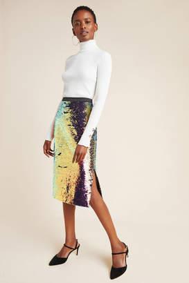 Ro & De Elysian Sequined Pencil Skirt