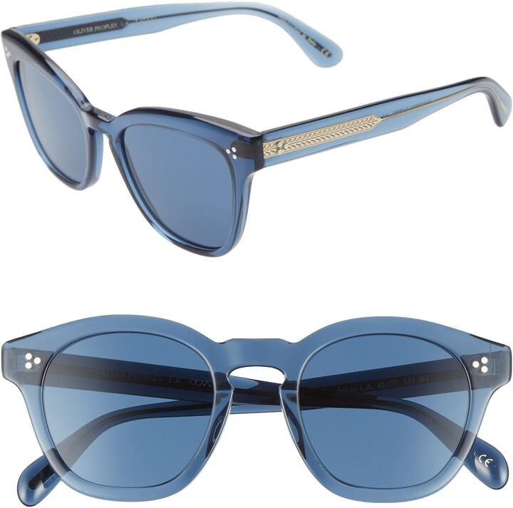 Oliver Peoples Boudreau L.A. 48mm Square Sunglasses