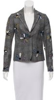 Mira Mikati Floral Patterned Wool Blazer w/ Tags