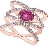 Effy Ruby (7/8 ct. t.w.) and Diamond (1 ct. t.w.) Ring in 14k Rose Gold