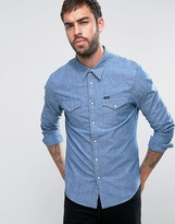 Lee Western Slim Fit Shirt Indigo Chambray