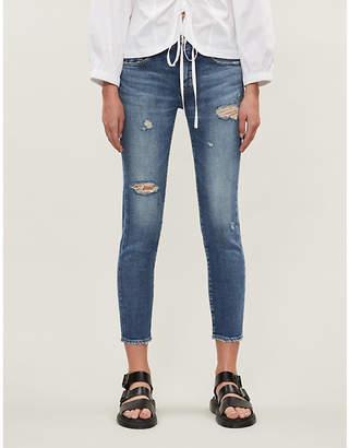 Selfridges Moussy Vintage Cantil cropped skinny low-rise jeans