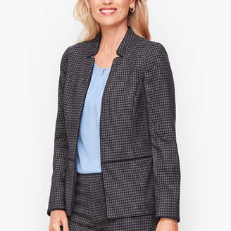 Talbots Stretch Houndstooth Tweed Jacket
