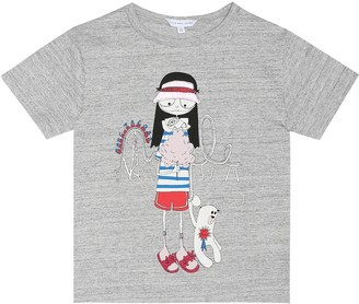 Little Marc Jacobs Miss Marc cotton-jersey T-shirt