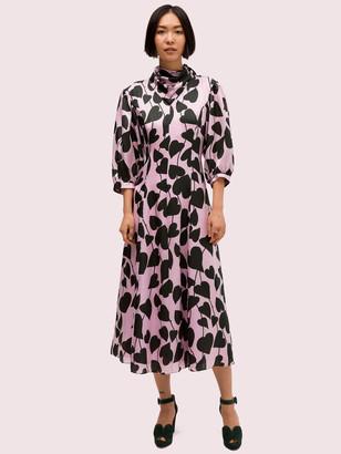 Kate Spade Heart Strings Silk Midi Dress