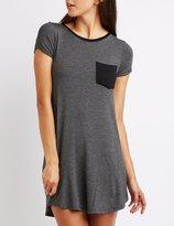 Charlotte Russe Pocket T-Shirt Dress