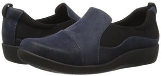 Clarks Sillian Paz (Navy Synthetic Nubuck) Women's Shoes