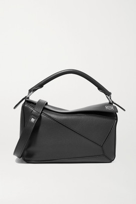 Loewe Puzzle Small Textured-leather Shoulder Bag - Black