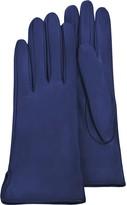 Forzieri Women's Bright Blue Calf Leather Gloves w/ Silk Lining