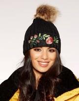 Quiz Embroidered Pom Hat