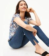 LOFT Curvy Slit Fresh Cut Skinny Jeans in Vivid Dark Indigo Wash