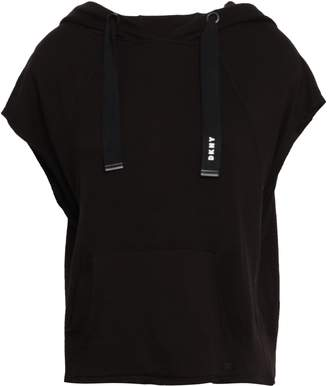 DKNY French Terry Hooded Top