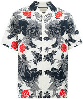 Gucci oriental print shirt