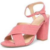 Dorothy Perkins Womens Pink 'Spring' Cross Over Heel Sandals- Pink