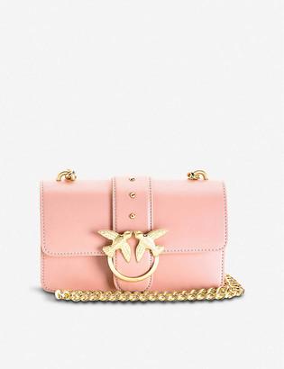 Pinko Mini Love Simply leather shoulder bag