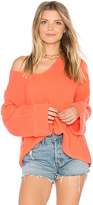 Free People La Brea V Neck Sweater in Red. - size XS (also in )