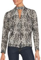 Romeo & Juliet Couture Snake Print Long Sleeve Top