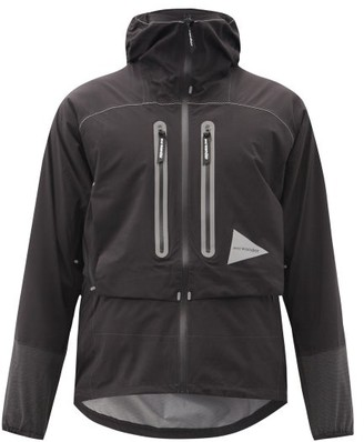 And Wander - 2.5 Reflective Waterproof Hooded Jacket - Black
