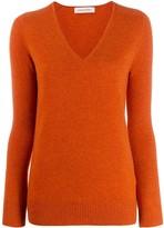 Gentry Portofino cashmere v-neck jumper