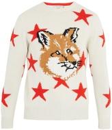 MAISON KITSUNÉ Star and fox-intarsia wool sweater