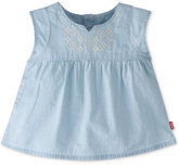 Levi's Embroidered Cotton Peasant Top, Baby Girls (0-24 months)