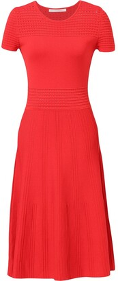 Jason Wu Collection Short-Sleeve Knitted Midi Dress