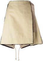 Sacai military kilt skirt - women - Cotton/Cupro - 3