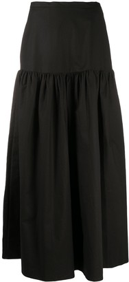 Adriana Degreas Solid Long Skirt
