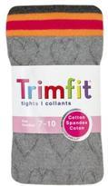TrimFit Girls' Textured Stripe Tights