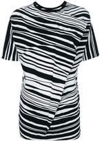 Yohji Yamamoto stripe patterned long T-shirt