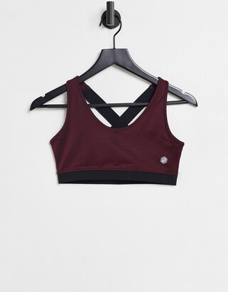 Asics low support bra in red