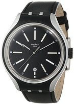 Swatch Men's YES4003 Irony Analog Display Swiss Quartz Black Watch