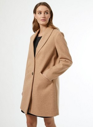Dorothy Perkins Womens Camel Shawl Collar Coat