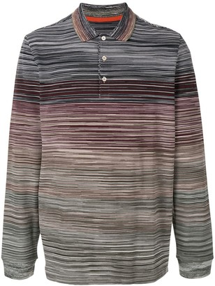 Missoni striped colour block polo shirt