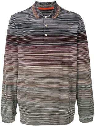 Missoni Striped Colour Block Polo Shirt