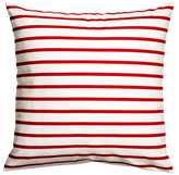 H&M Cotton Cushion Cover - White/red striped