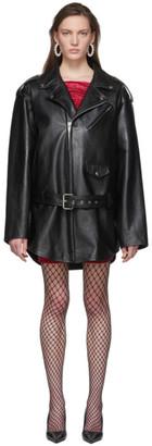 Balenciaga Black Leather 80s Biker Jacket