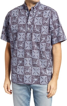 Reyn Spooner Kapa Garden Short Sleeve Popover Shirt