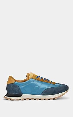"Maison Margiela Men's ""Replica"" Suede & Nylon Sneakers - Blue"