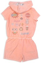 Butter Shoes Girls' Mineral Wash Terry Romper