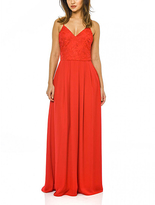AX Paris Red Embroidered V-Neck Maxi Dress
