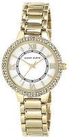 Anne Klein Ladies' Gold-Tone & Swarovski Crystal Quartz Watch